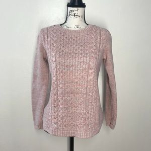 Talbots Pink Knit Crew Neck Sweater